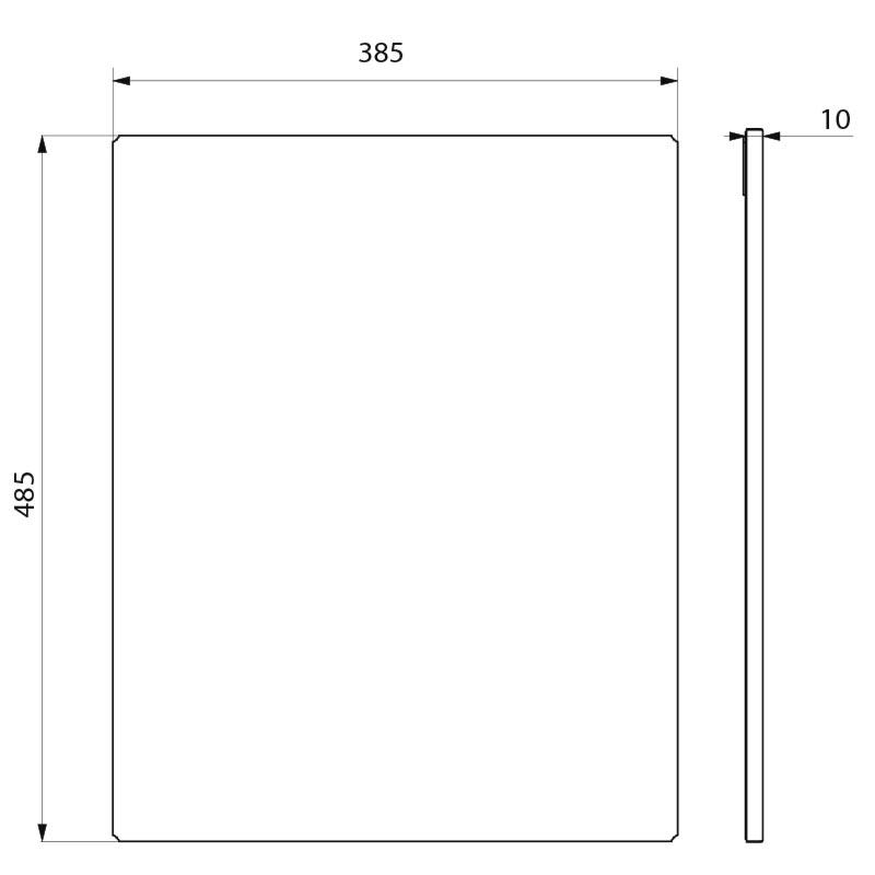 Miroir rectangulaire inox h 500 mm r f 3452 delabie for Miroir inox incassable