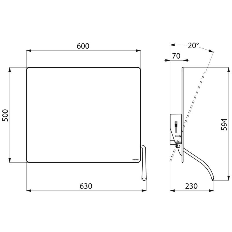 Miroir Inclinable Avec Levier Long Ergonomique Nylon Blanc R F