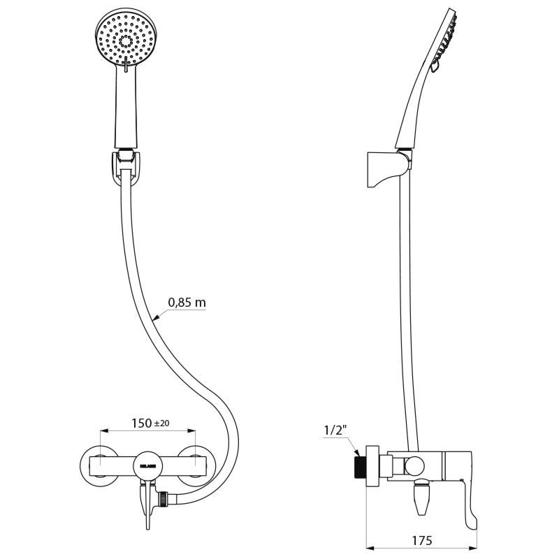 kit douche autovidable thermostatique monocommande. Black Bedroom Furniture Sets. Home Design Ideas