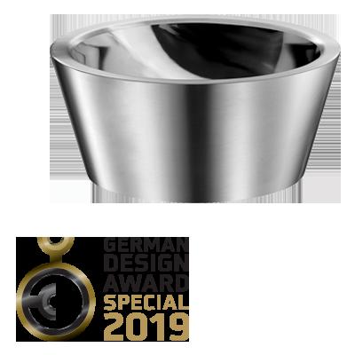 German Design Award 2019: « SPECIAL MENTION » voor de ALGUI opbouw waskom in rvs