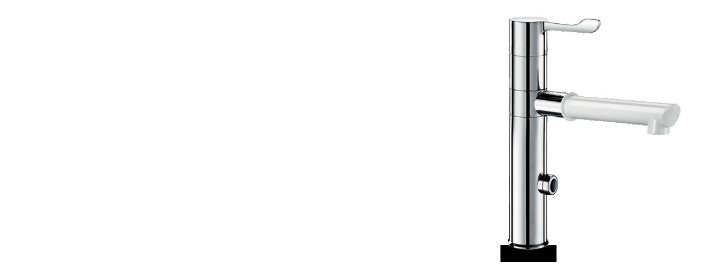 Mitigeur électronique à bec déclipsable