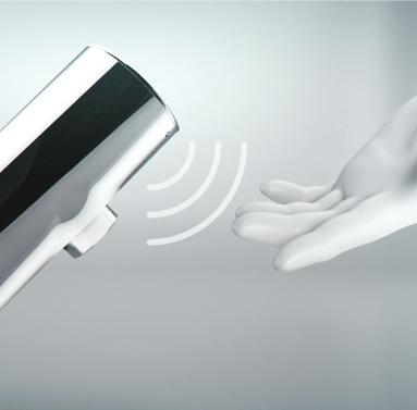 Elektronische kranen met automatische spoeling