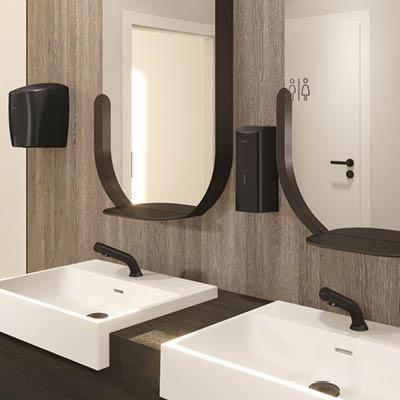 Design et technologie pour une hygiène optimale des mains : nouveau distributeur de savon électronique noir mat