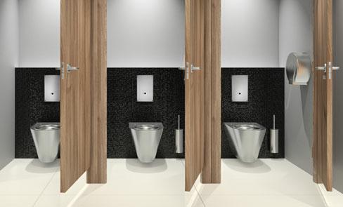 Toiletsysteem met directe spoeling, een revolutie in openbare toiletten